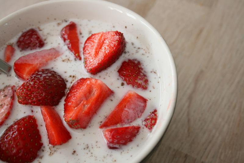 En sundere udgave af jordbær med fløde og sukker