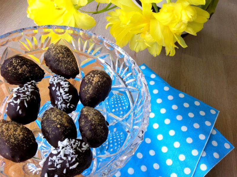 Sunde påskeæg trøffel chokolade ingefær kokos christinebonde blog