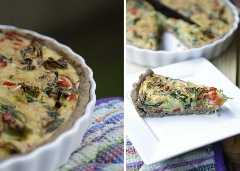 Vegetartærte grøntsagstærte glutenfri laktosefri sukkerfri christinebonde blog