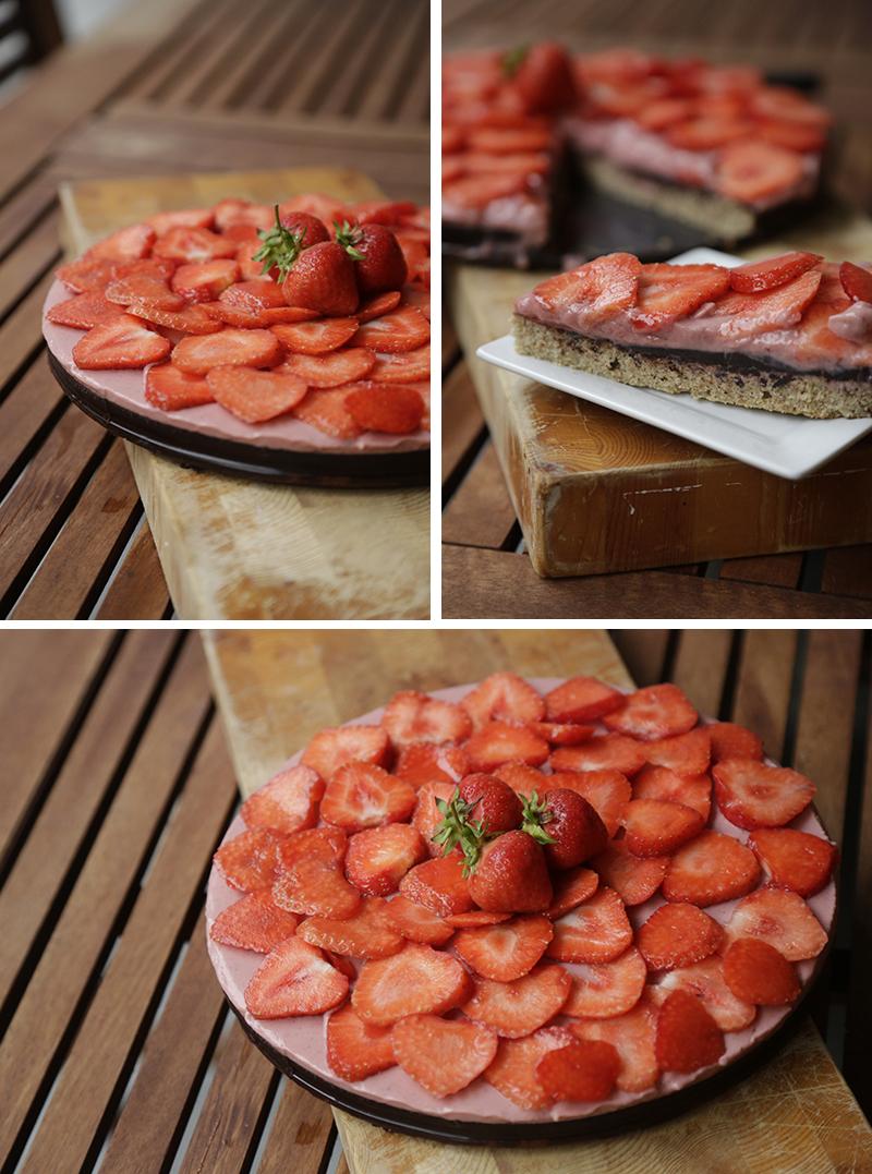 Sund jordbærtærte sukkerfri glutenfri laktosefri christinebonde blog