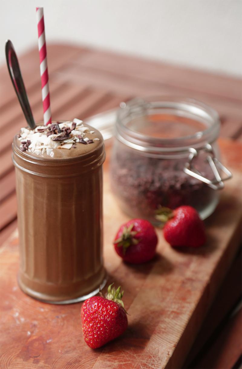 Chokosmoothie chokoladesmoothie super booster greens christinebonde blog