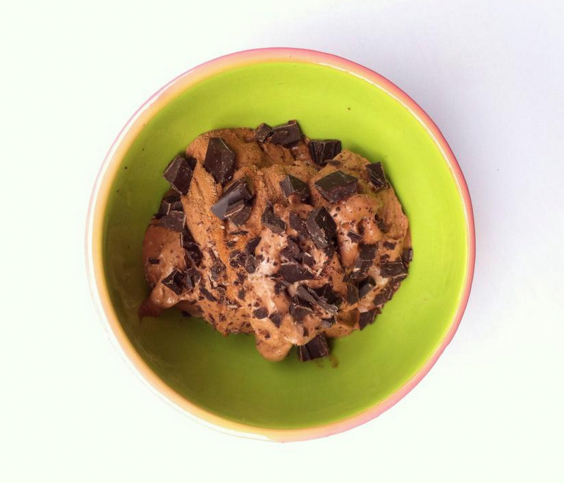 Vegan banana chocolate icecream - Christine Bonde blog