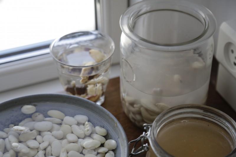 Udblødning nødder ris bønner fytin