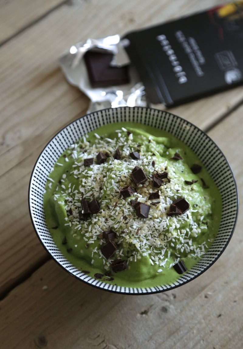 Grundopskrift på smoothie bowl : greenie : grøn smoothie : grøntsagssmoothie3