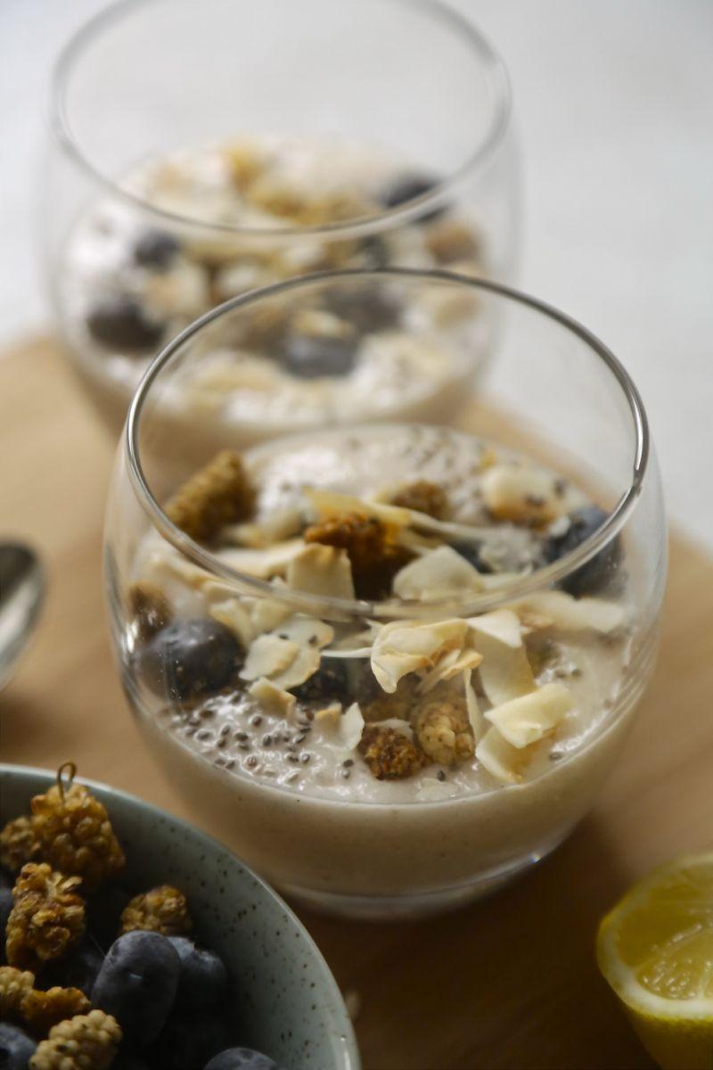 Cremet kokosyoghurt med citron og vanilje3