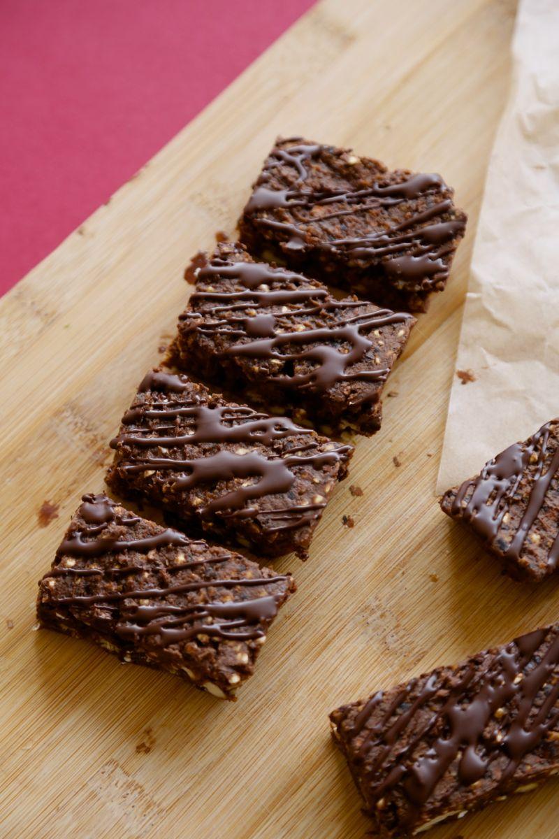 Crunchy bønnebar med chokolade (proteinbar uden proteinpulver)5