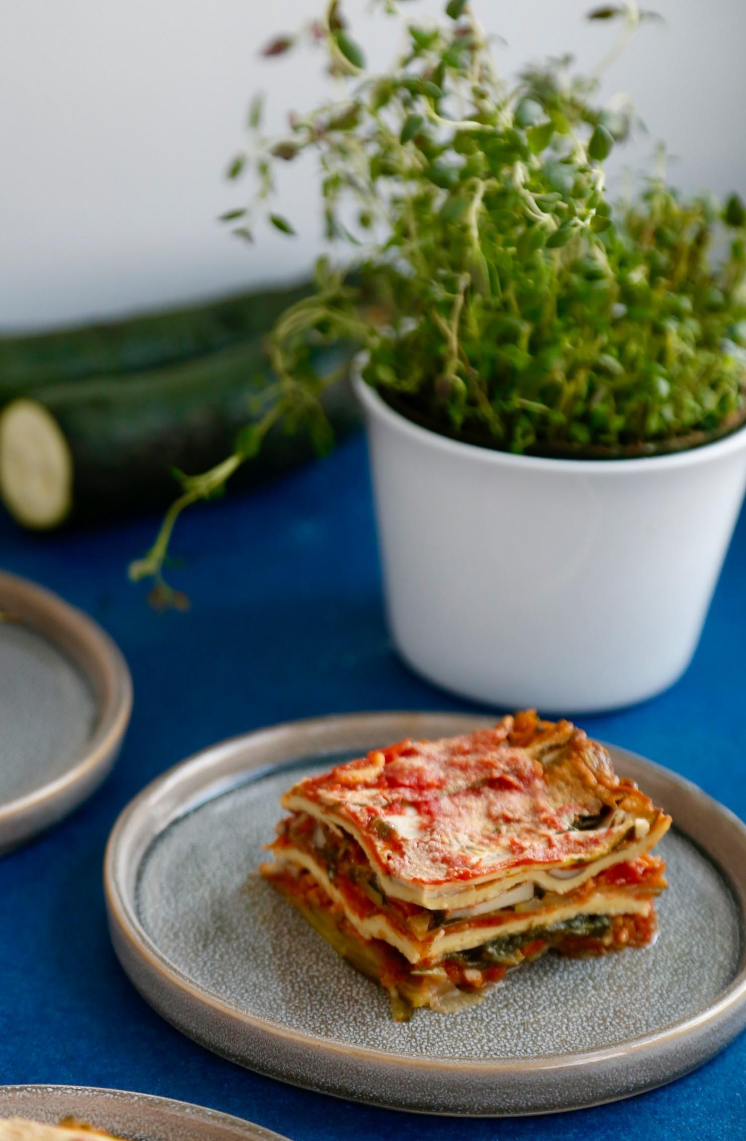 Vegansk, glutenfri og ret så overdådig lasagne3